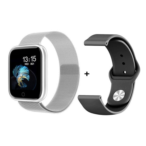 Steel Smartwatch Women Waterproof Smart Watch Men T80 Bluetooth Heart Rate Monitor Fitness Tracker For Apple IPhone Android