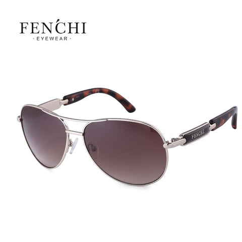 FENCHI Polarized Sunglasses Women Vintage Brand Glasses Driving Pilot Pink Mirror sunglasses