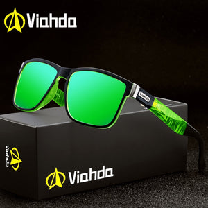 Viahda Brand Design Polarized Sunglasses Men Driving Shades Male Sun Glasses Mirror Summer UV400