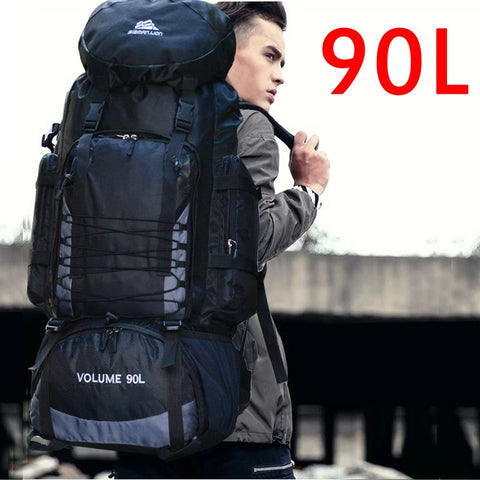Image of 90L Travel Camping Backpack Rucksack Hiking Climbing Bag Trekking Mountaineering Large Capacity Sports Bag