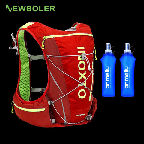 Image of Trail Running Vest Backpack 8L 10L Ultra Running Hydration Vest Pack Marathon Running Rucksack Bag 500ml Soft Flask