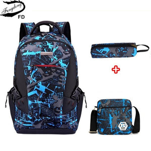 3pcs bag set boys school bags kids waterproof school backpack for boy bookbag student schoolbag kids pen pencil bag