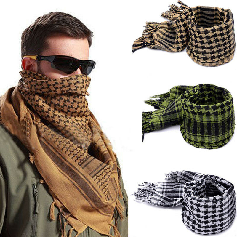 Fashion Mens Lightweight Square Outdoor Shawl Military Arab Tactical Desert Army Scarf Fashion