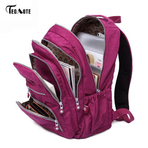 School Backpack for Teenage Girls Backpacks Nylon Waterproof Casual Laptop Bagpack Female