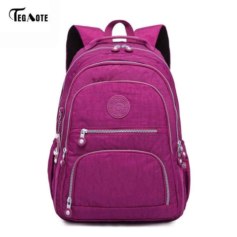 Image of School Backpack for Teenage Girls Backpacks Nylon Waterproof Casual Laptop Bagpack Female