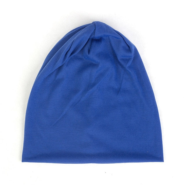 Spring Women Men Unisex Solid Color Slouchy Beanie For Women Fashion Man Cotton Caps Turban Skullies Beanies Female Hats Elastic