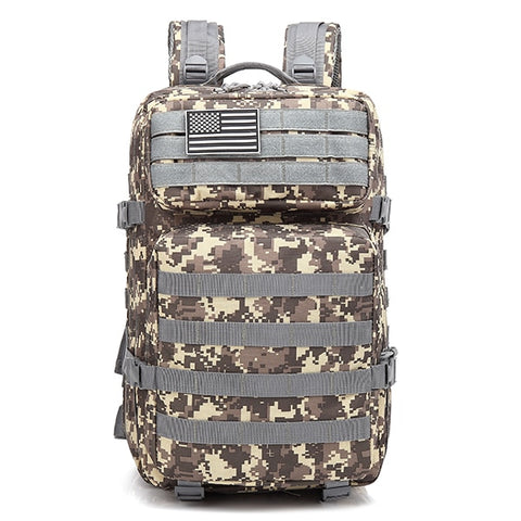 Image of 50L Camouflage Army Backpack Men Military Tactical Bags Assault Molle backpack Hunting Trekking Rucksack Waterproof Bug Out Bag
