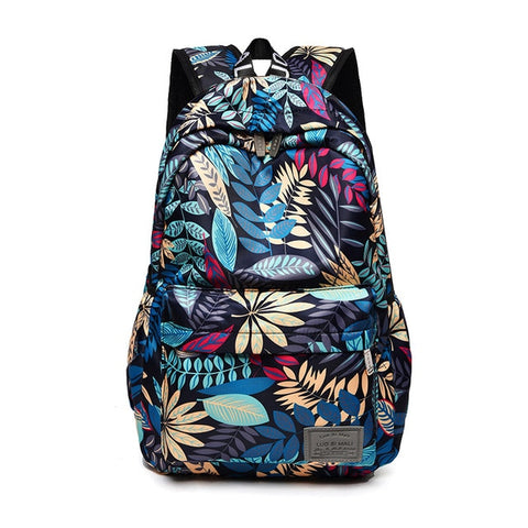 Image of Print Hawaii Style Backpacks For School Teenagers Girls Bags Fashion Women Travel Back Pack