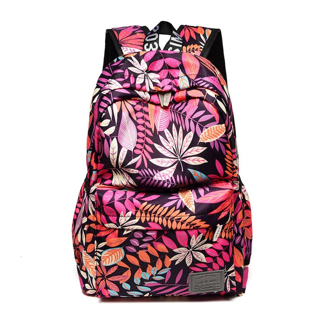 Print Hawaii Style Backpacks For School Teenagers Girls Bags Fashion Women Travel Back Pack