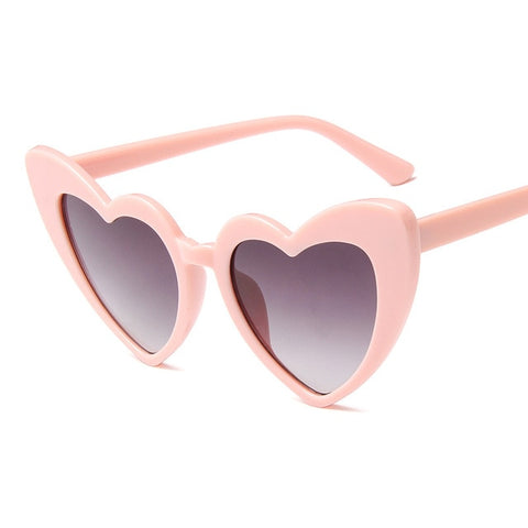 Image of Love Heart Sunglasses Women Big Frame Personality Sunglass Fashion Cute Sexy Retro Cat Eye Vintage SunGlasses Pink Female