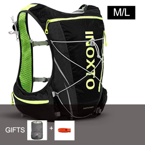 Trail Running Vest Backpack 8L 10L Ultra Running Hydration Vest Pack Marathon Running Rucksack Bag 500ml Soft Flask