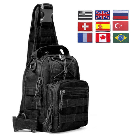 Image of 600D Military Tactical Shoulder Bag EDC Outdoor Travel Backpack Waterproof Hiking Camping Backpack Hunting Camouflage Army Bags