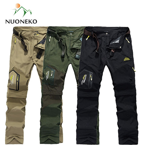 Image of Quick Dry Removable Hiking Pants Outdoor Mens Summer Breathable Shorts Men Mountain Camping Trekking Trousers