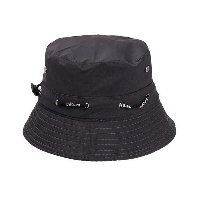 Summer Foldable Bucket Hat Unisex Women Outdoor Sunscreen Cotton Fishing Hunting Cap Men Basin Chapeau Sun Prevent Hats