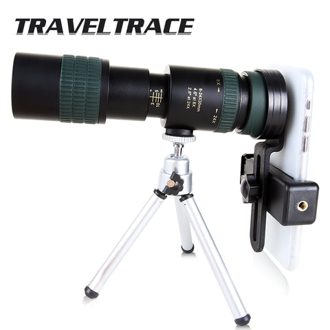 Image of 8-24x30 Zoom Monocular Telescope for Smartphone High Quality Powerful Foldable BAK4 Retractable Hunting Optics Handheld Portable