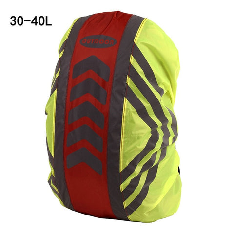 Image of Rain Cover Backpack Reflective Waterproof Dustproof Sport Bag Cover Outdoor Travel Hiking Climbing Rucksack Rainproof Cover
