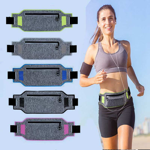 Image of Professional Running Waist Bag Sports Belt Pouch Mobile Phone Case Men Women Hidden Pouch Gym SportsBags Running Belt Waist Pack