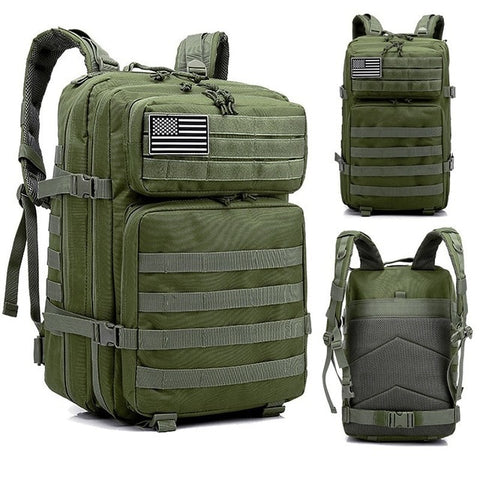 Image of 45L Man/Women Hiking Trekking Bag Military Tactical Backpack Army Waterproof Molle Bug Out Bag Outdoor Travel Camping Backpack