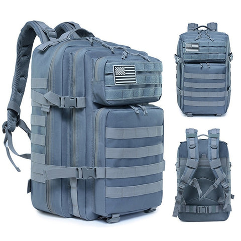 45L Man/Women Hiking Trekking Bag Military Tactical Backpack Army Waterproof Molle Bug Out Bag Outdoor Travel Camping Backpack