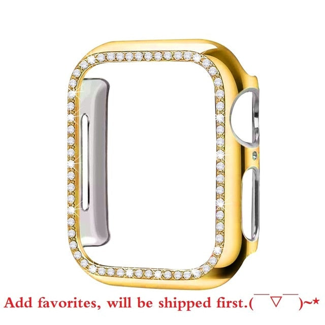 Diamond Bumper Protective Case for Apple Watch Cover Series 5 4 3 2 1 38MM 42MM Cases For Iwatch 5 4 40mm 44mm watch accessories