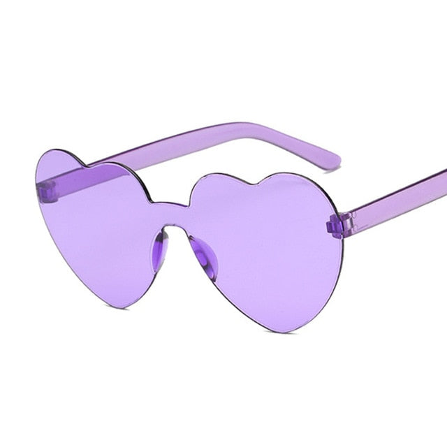 Love Heart Sunglasses Women Brand Designer Fashion Cute Sexy Retro Cat Eye Vintage Style Sun Glasses Red Female