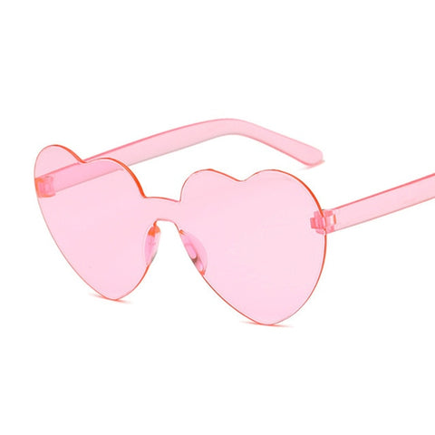 Image of Love Heart Sunglasses Women Brand Designer Fashion Cute Sexy Retro Cat Eye Vintage Style Sun Glasses Red Female