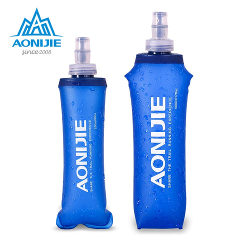 AONIJIE SD09 SD10 250ml 500ml Soft Flask Folding Collapsible Water Bottle TPU Free For Running Hydration Pack Waist Bag Vest