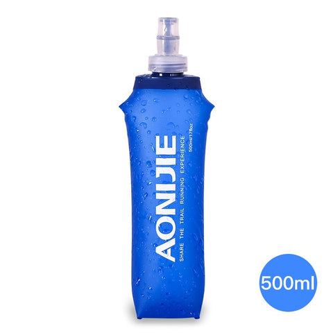 Image of AONIJIE SD09 SD10 250ml 500ml Soft Flask Folding Collapsible Water Bottle TPU Free For Running Hydration Pack Waist Bag Vest