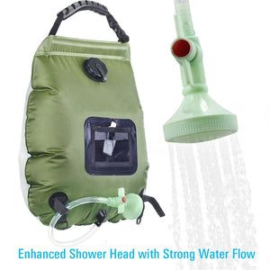 Water Bags For Outdoor Solar Hiking Camping Shower Bag 20L Heating Camping Shower Hydration Bag Hose Switchable Shower Head