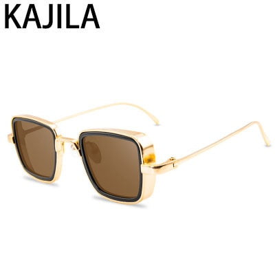 Vintage Steampunk Sunglasses Men Retro Metal Square Eyewear Trendy Brand Sun Glasses Shades For Women