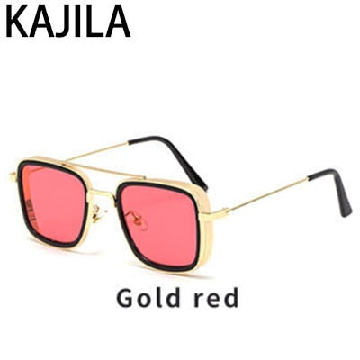Image of Vintage Steampunk Sunglasses Men Retro Metal Square Eyewear Trendy Brand Sun Glasses Shades For Women
