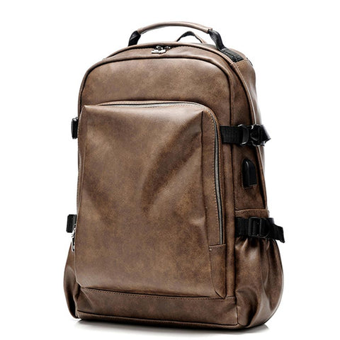 Image of Travel business backpack trend bag computer bag men's retro fashion multi-function large capacity backpack
