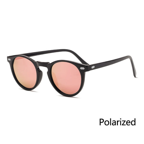 Image of Polarized Sunglasses Men Women Fashion Round TAC Lens TR90 Frame Brand Designer Driving Sun Glasses UV400