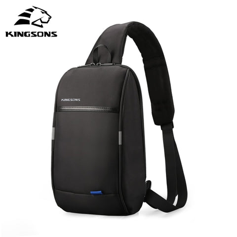 Image of Small Backpack Over Shoulder For Men One Strap Chest Bag Leisure Travel 10.1 inch Crossbody Backpack USB Charging