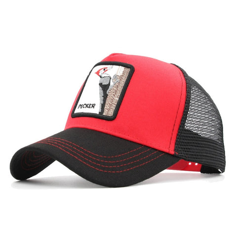 Image of Fashion Animals Embroidery Baseball Caps Men Women Snapback Hip Hop Hat Summer Mesh Hat Streetwear Bone