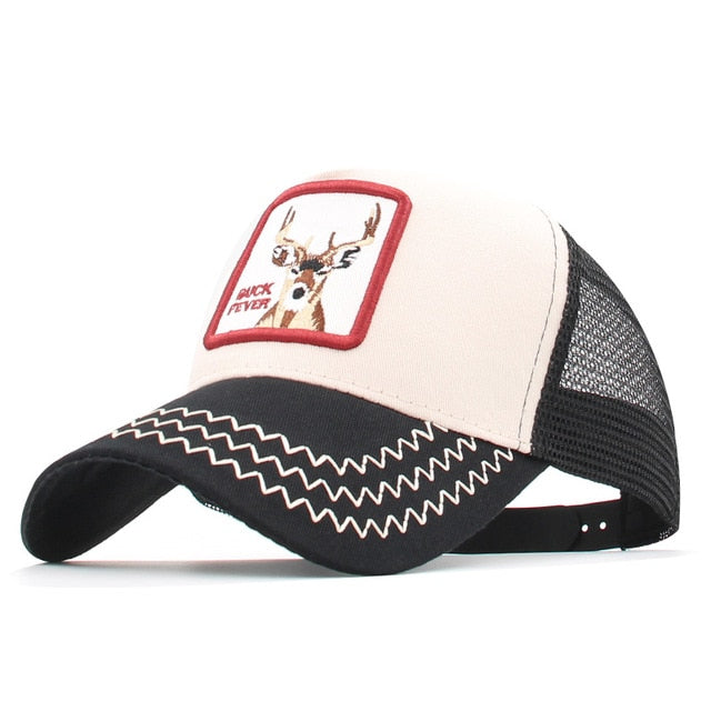 Fashion Animals Embroidery Baseball Caps Men Women Snapback Hip Hop Hat Summer Mesh Hat Streetwear Bone