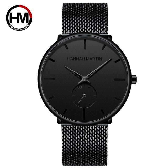 Simple Design Waterproof Stainless Steel Mesh Small Dial Men Watches Top Brand luxury Quartz