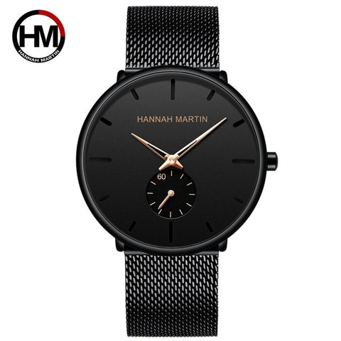 Image of Simple Design Waterproof Stainless Steel Mesh Small Dial Men Watches Top Brand luxury Quartz