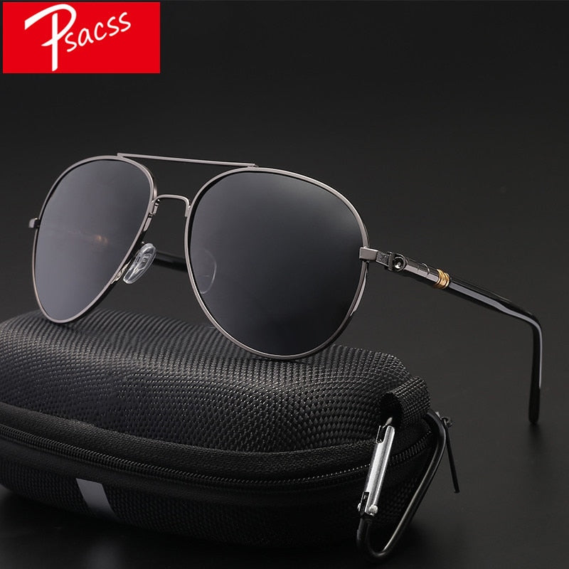 Classic Pilot Photochromic Sunglasses Men Driving Clear Polarized Lens Sun Glasses Male Vintage Brand Sunglass Oculos UV