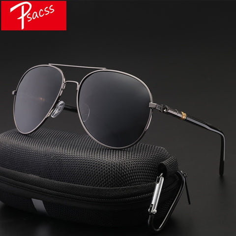 Image of Classic Pilot Photochromic Sunglasses Men Driving Clear Polarized Lens Sun Glasses Male Vintage Brand Sunglass Oculos UV