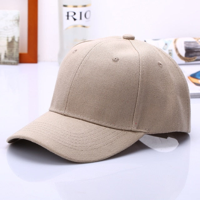 Black Cap Solid Color Baseball Snapback Hats Fitted Casual Hip Hop Dad Hats For Men Women Unisex