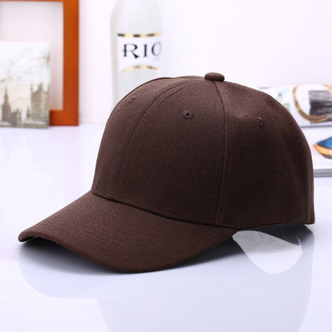 Image of Black Cap Solid Color Baseball Snapback Hats Fitted Casual Hip Hop Dad Hats For Men Women Unisex