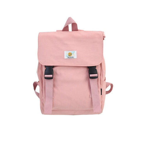 Image of Waterproof Backpack Women Canvas School Bags Travel Bag for Teenage Girls Bagpack