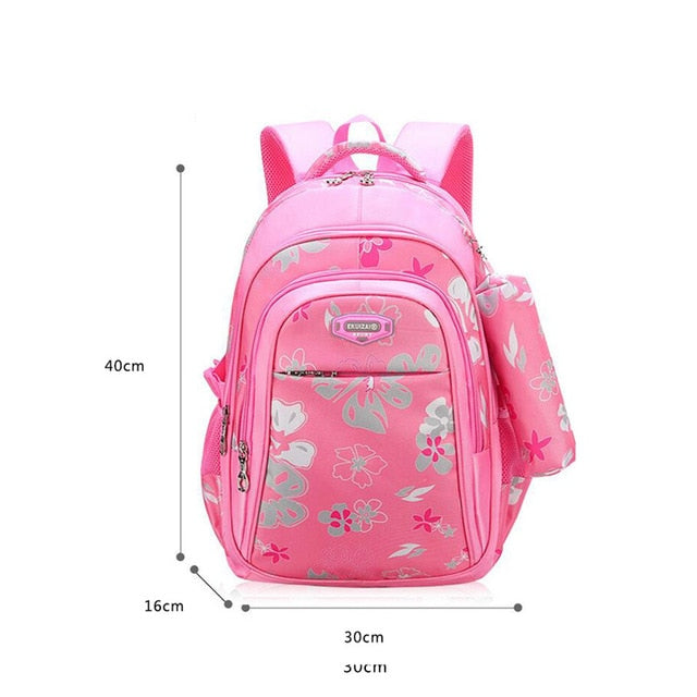 Floral Girls Backpack School Bags For Girls 3 Piece Bag Set Children's Backpack