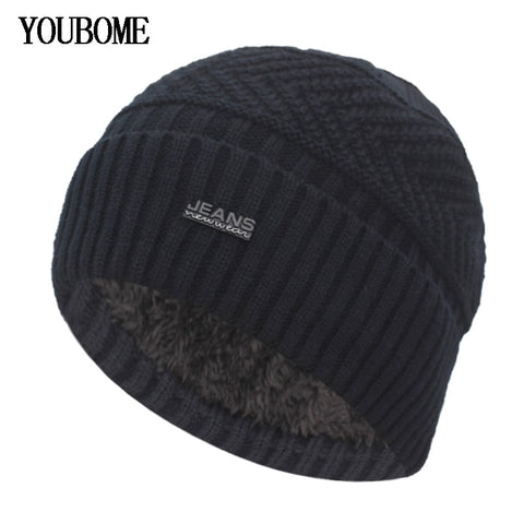 Image of Skullies Beanies Winter Hats For Men Knitted Hat Women Male Warm Soft Neck Balaclava Bonnet Beanie Hat