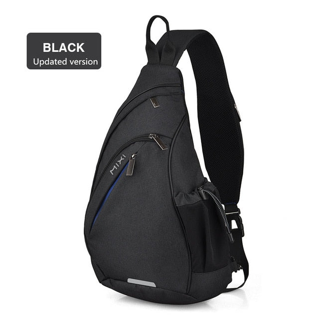 Mixi Men Sling Backpack One Shoulder Bag Boys Student School Bag University Work Travel Versatile Fashion Design