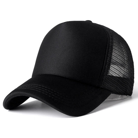 Image of 1 PCS Unisex Cap Casual Plain Mesh Baseball Cap Adjustable Snapback Hats For Women Men Hip Hop Trucker Cap Streetwear Dad Hat