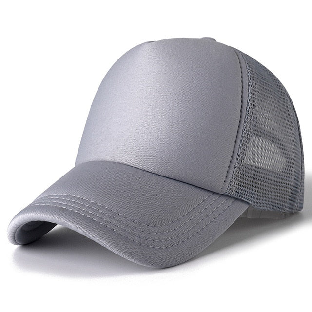 1 PCS Unisex Cap Casual Plain Mesh Baseball Cap Adjustable Snapback Hats For Women Men Hip Hop Trucker Cap Streetwear Dad Hat