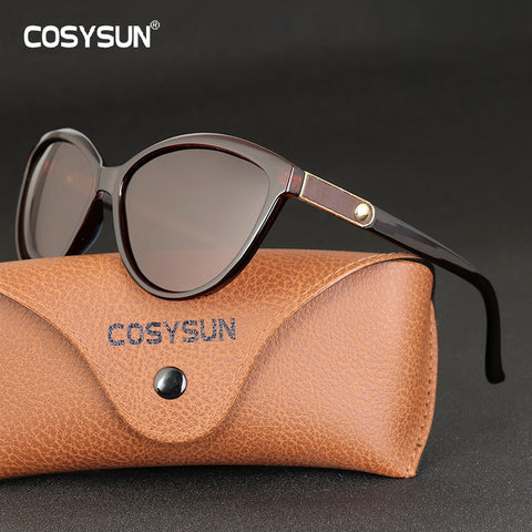 Image of Luxury Brand Designer Women Sunglasses Polarized Cat Eye Lady Vintage Sun Glasses Female Driving Eyewear Oculos De Sol