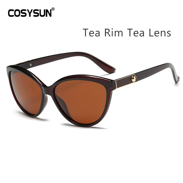 Luxury Brand Designer Women Sunglasses Polarized Cat Eye Lady Vintage Sun Glasses Female Driving Eyewear Oculos De Sol